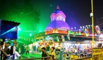 The Kalighat Mandir at Night